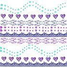 Hearts and pattern by RosiLorz