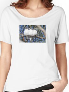 White-breasted Woodswallows ~ Out of Step Women's Relaxed Fit T-Shirt