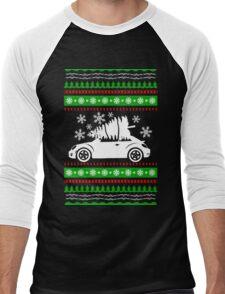 Car Bug and Pine Ugly Christmas Sweater Men's Baseball ¾ T-Shirt