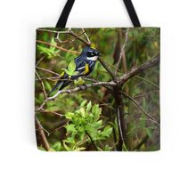 New England Yellow-Rumped Warbler Tote Bag
