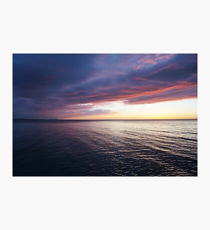 Dramatic Sky over the lake  Photographic Print