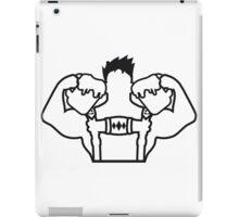 cool bier krug saufen trinken groß stark muskeln bodybuilder training trainieren mann lederhose tracht bayern oktoberfest party anzug bier saufen feiern  iPad Case/Skin