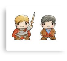 Merlin and Arthur Biddys.  Canvas Print