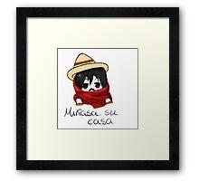Mikasa, su casa. Framed Print
