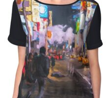 Only go out at night - Broadway Chiffon Top