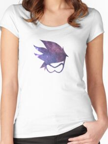 Tracer Logo - Galaxy Women's Fitted Scoop T-Shirt