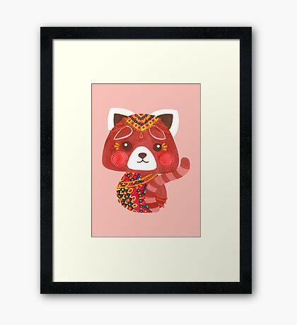 The Cute Red Panda Framed Print
