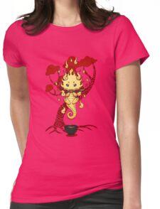 cute little dragon fire Womens Fitted T-Shirt