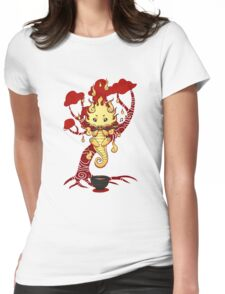 cute little dragon fire Womens Fitted T-Shirt