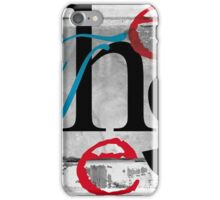 BROKEN WINGS (BLOCK 2: WORD 'THESE') - MIX AND MATCH!!! iPhone Case/Skin