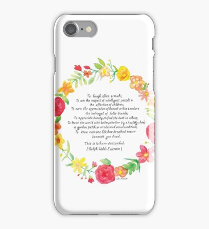 To laugh often and much iPhone Case/Skin
