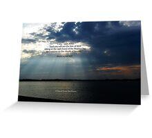 Mark 14:62 NIV Greeting Card