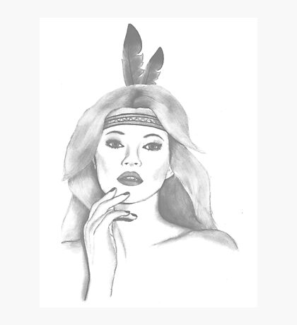 feather girl Photographic Print
