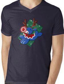 Water Reindeer Mens V-Neck T-Shirt