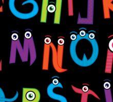 Monster Alphabet Sticker