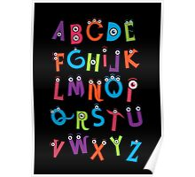 Monster Alphabet Poster
