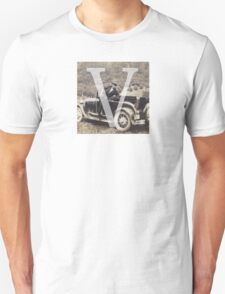 Retro Alphabet V T-Shirt