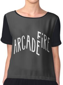 arcade fire logo Chiffon Top