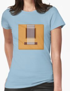 Box Acoustic Guitar Womens Fitted T-Shirt