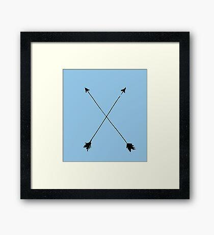 Arrows MINIMAL white  Framed Print