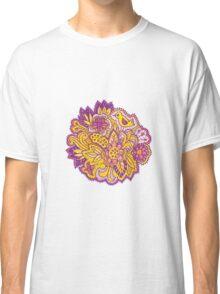 Purple and yellow flower pattern Classic T-Shirt