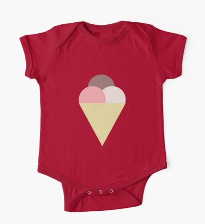 Ice Cream in Small Things One Piece - Short Sleeve