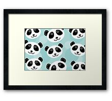 Cute panda face Framed Print