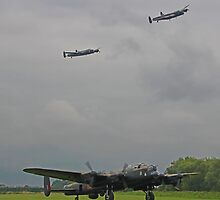 3 Lancasters by Colin  Williams Photography