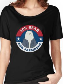 ICE BEAR FOR PRESIDENT Women's Relaxed Fit T-Shirt