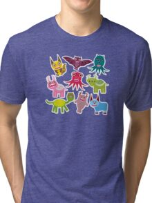 Cartoon monsters Tri-blend T-Shirt