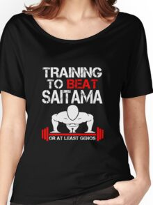 Training to Beat Saitama Women's Relaxed Fit T-Shirt