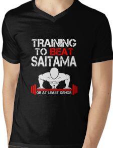 Training to Beat Saitama Mens V-Neck T-Shirt
