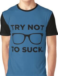 Joe Maddon Try Not To Black Graphic T-Shirt