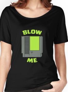 Blow Me Nintendo Green Women's Relaxed Fit T-Shirt