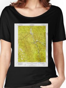 USGS TOPO Map California CA Willow Creek 302001 1952 62500 geo Women's Relaxed Fit T-Shirt