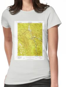 USGS TOPO Map California CA Willow Creek 302001 1952 62500 geo Womens Fitted T-Shirt