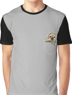 POCKET SLOTH Graphic T-Shirt