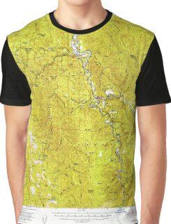 USGS TOPO Map California CA Willow Creek 302001 1952 62500 geo Graphic T-Shirt