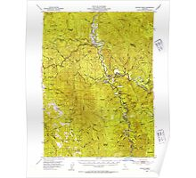 USGS TOPO Map California CA Willow Creek 302001 1952 62500 geo Poster
