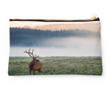 Early Morning Bull Elk Studio Pouch