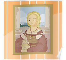 Lady with unicorn by Raphael Poster