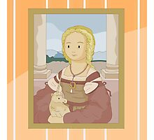 Lady with unicorn by Raphael Photographic Print