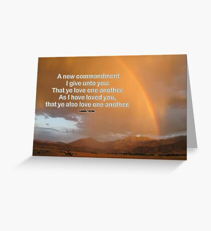 Love One Another--John 13:34 Greeting Card