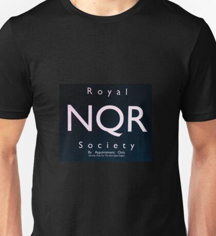 Royal Not Quite Right Society - White on Black Unisex T-Shirt