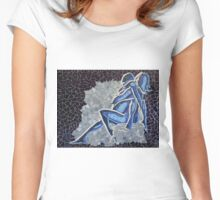 'Blue Embrace'~2010 by Denise Vieira Women's Fitted Scoop T-Shirt