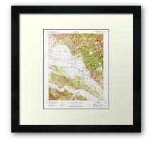 USGS TOPO Map California CA Williams Hill 301385 1949 24000 geo Framed Print