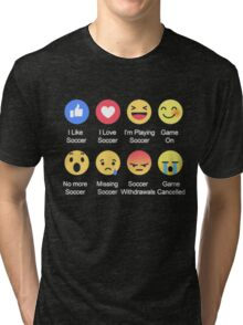 I LOVE SOCCER EMOTION T-SHIRT Tri-blend T-Shirt