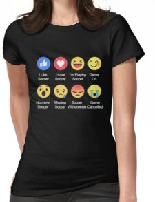 I LOVE SOCCER EMOTION T-SHIRT Womens Fitted T-Shirt