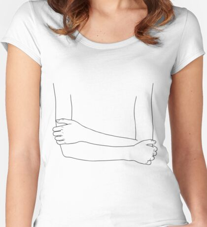 crossed arms Women's Fitted Scoop T-Shirt