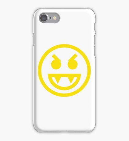 The Internet Generation Collection - Evil Vampire Emoji - Yellow and White Pattern iPhone Case/Skin